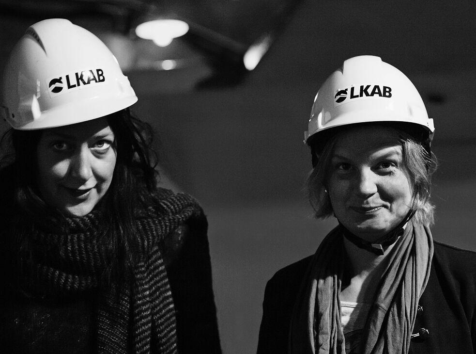 Vinnare av Norrlands litteraturpris är Ida Linde och Lina Stoltz. Foto: Johannes Samuelsson