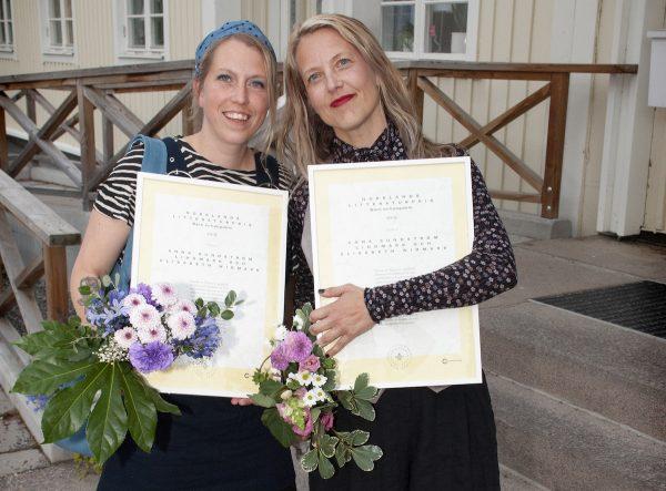 Elisabeth Widmark och Anna Sundström Lindmark, 2019 års mottagare av Norrlands litteraturpris i barn- och ungdomsklassen.