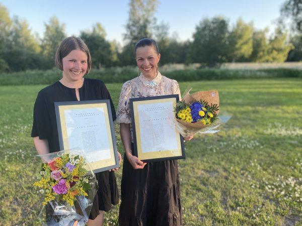 """Alma Thörn prisas för """"Alltid hejdå"""" och Elin Anna Labba för """"Herrarna satte oss hit""""."""